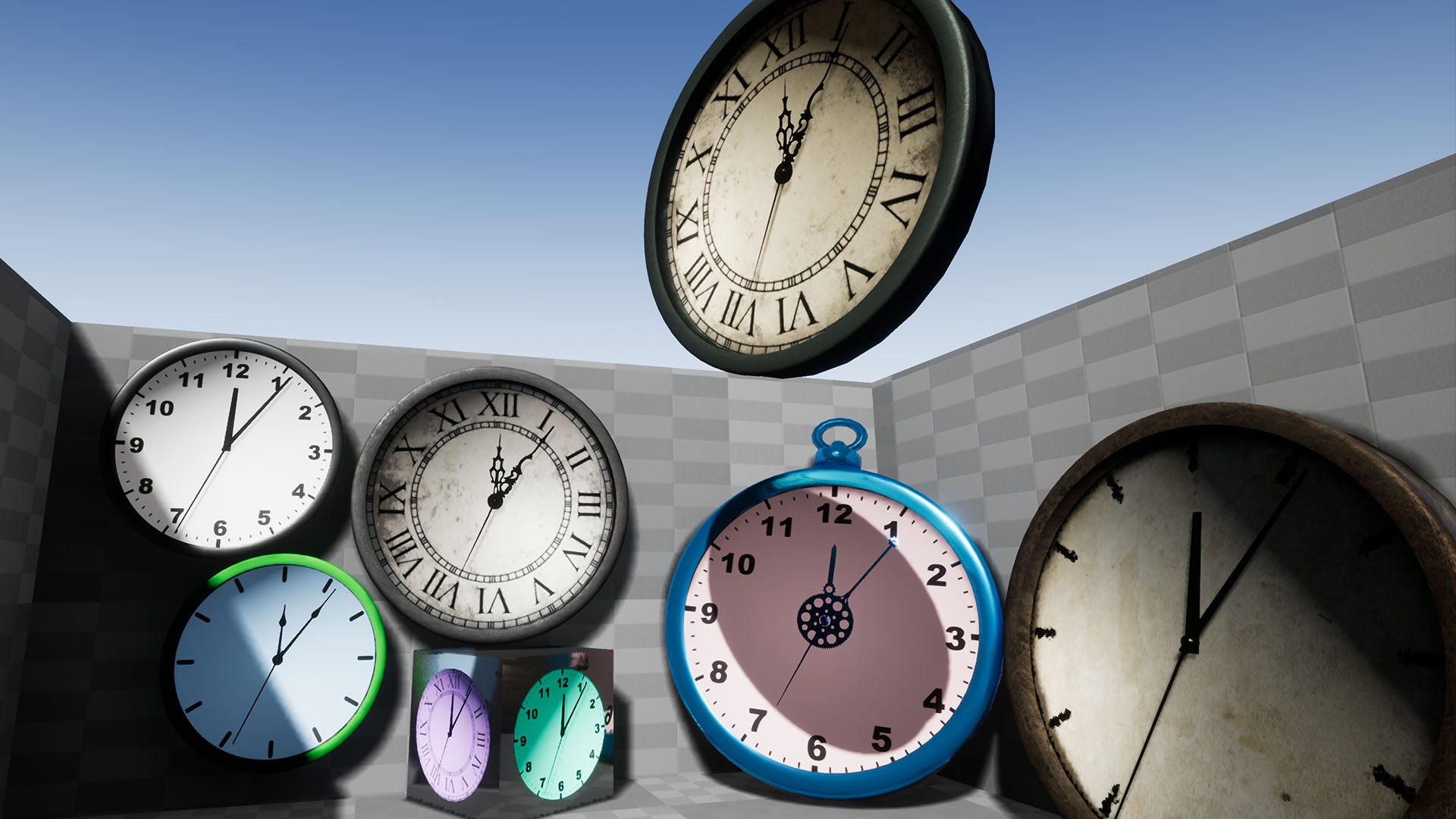 Timers Clocks And Counters Pack By Karl Muller In Props Ue4 Timer From Old Quartz Clock Electronics For You Share