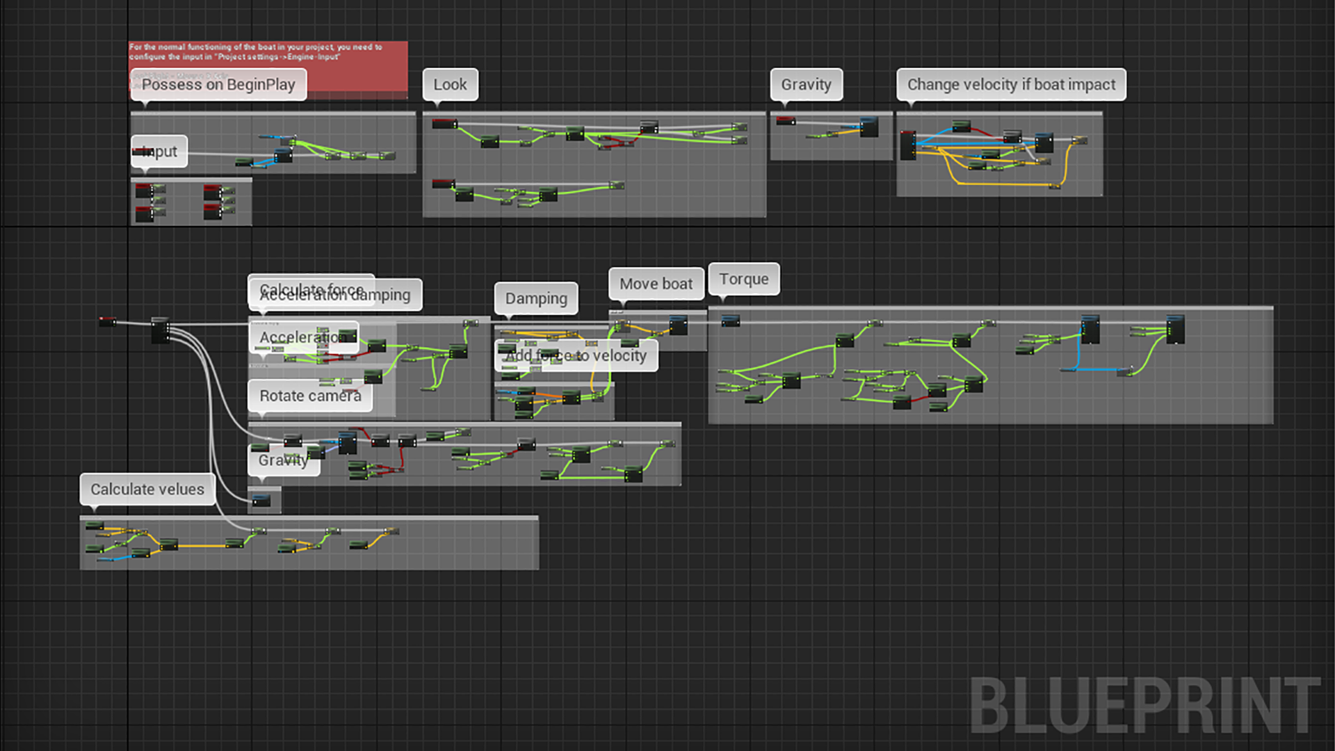 Drivable Boat (with buoyancy) by Sharki in Blueprints - UE4 Marketplace