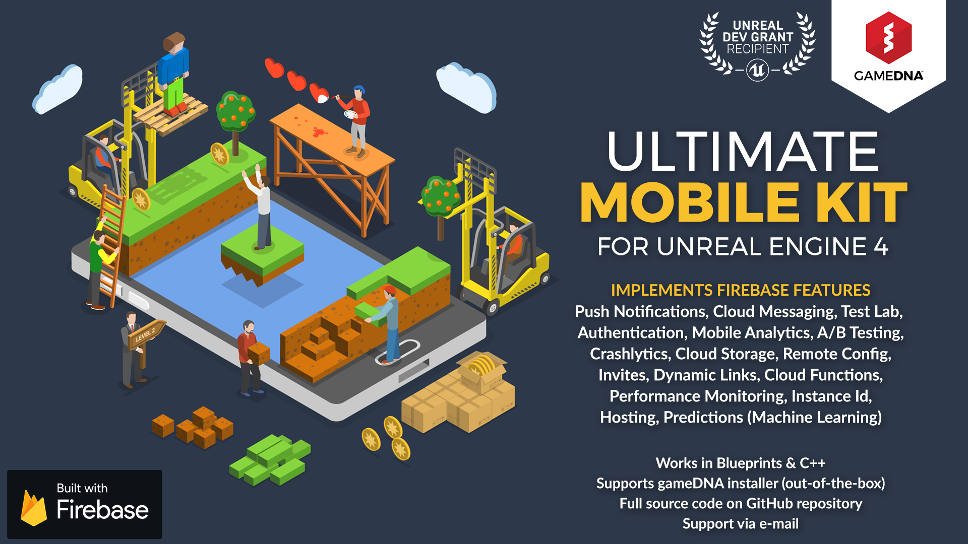 Ultimate Mobile Kit Firebase by gameDNA in Code Plugins - UE4