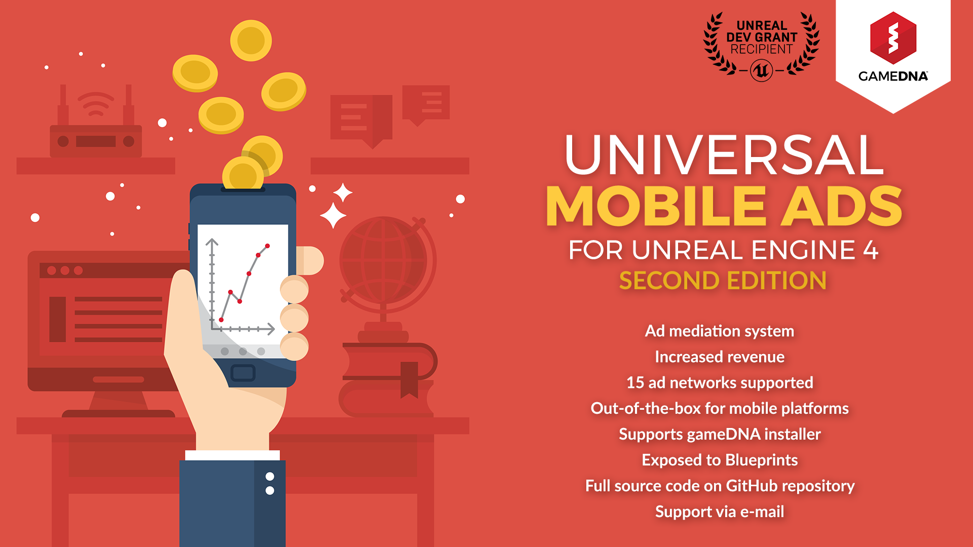 Universal Mobile Ads by gameDNA in Code Plugins - UE4
