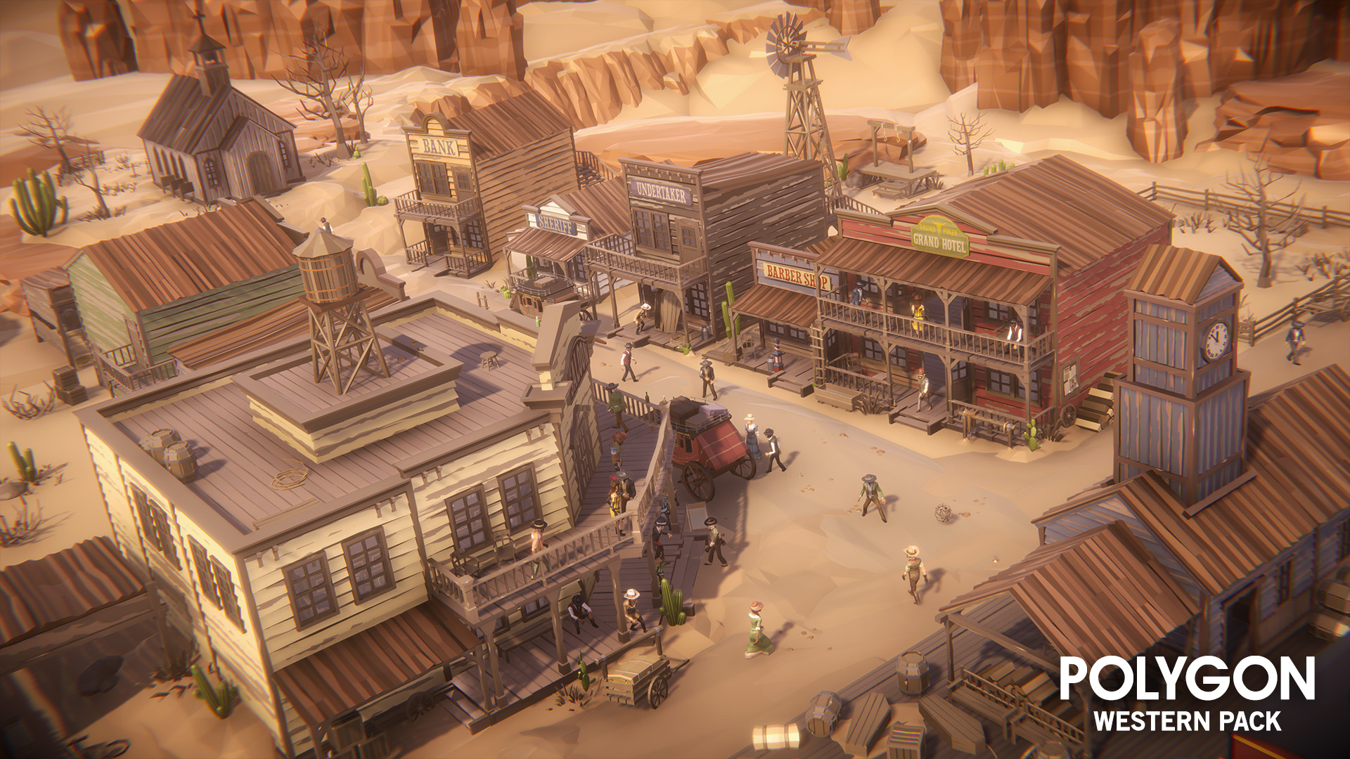 POLYGON - Western Pack by Synty Studios in Environments - UE4