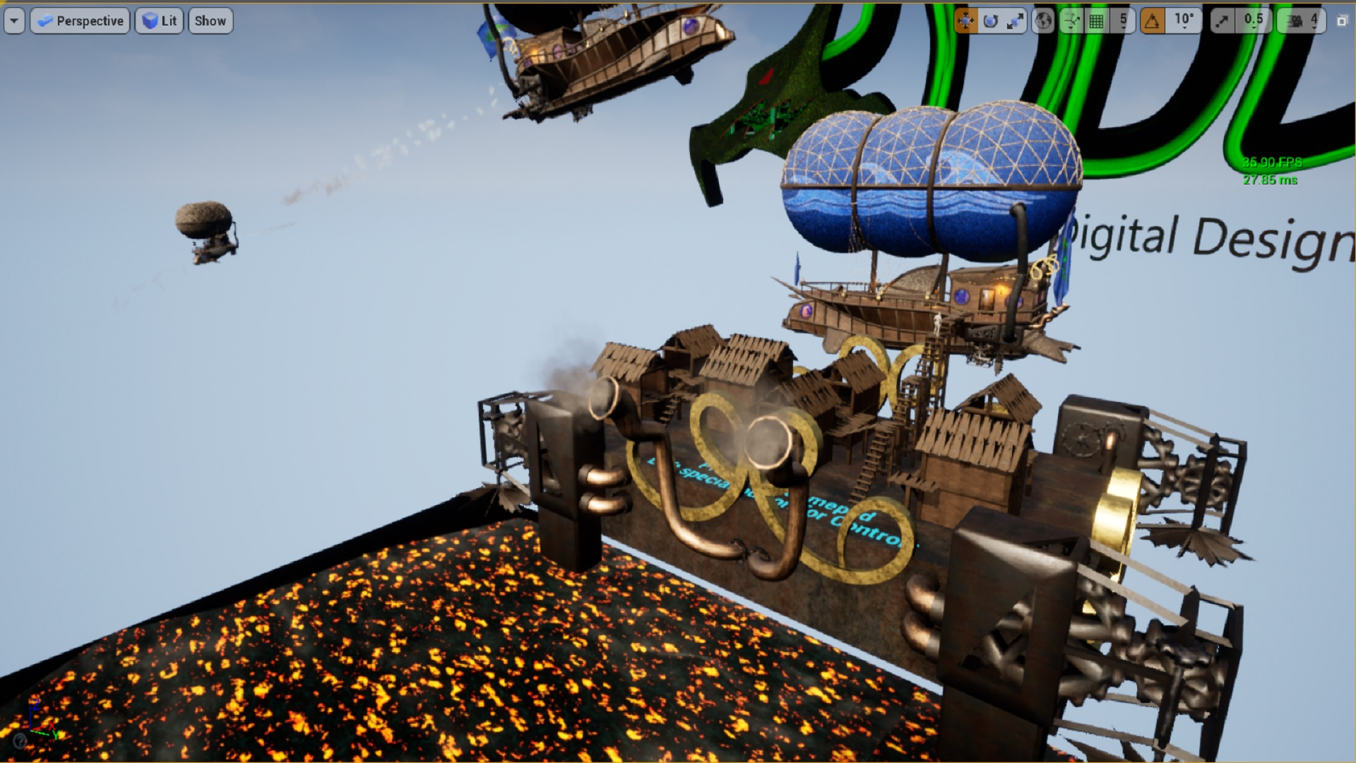 Dolphin Airship Blueprint by DDDesigns in Blueprints - UE4 Marketplace