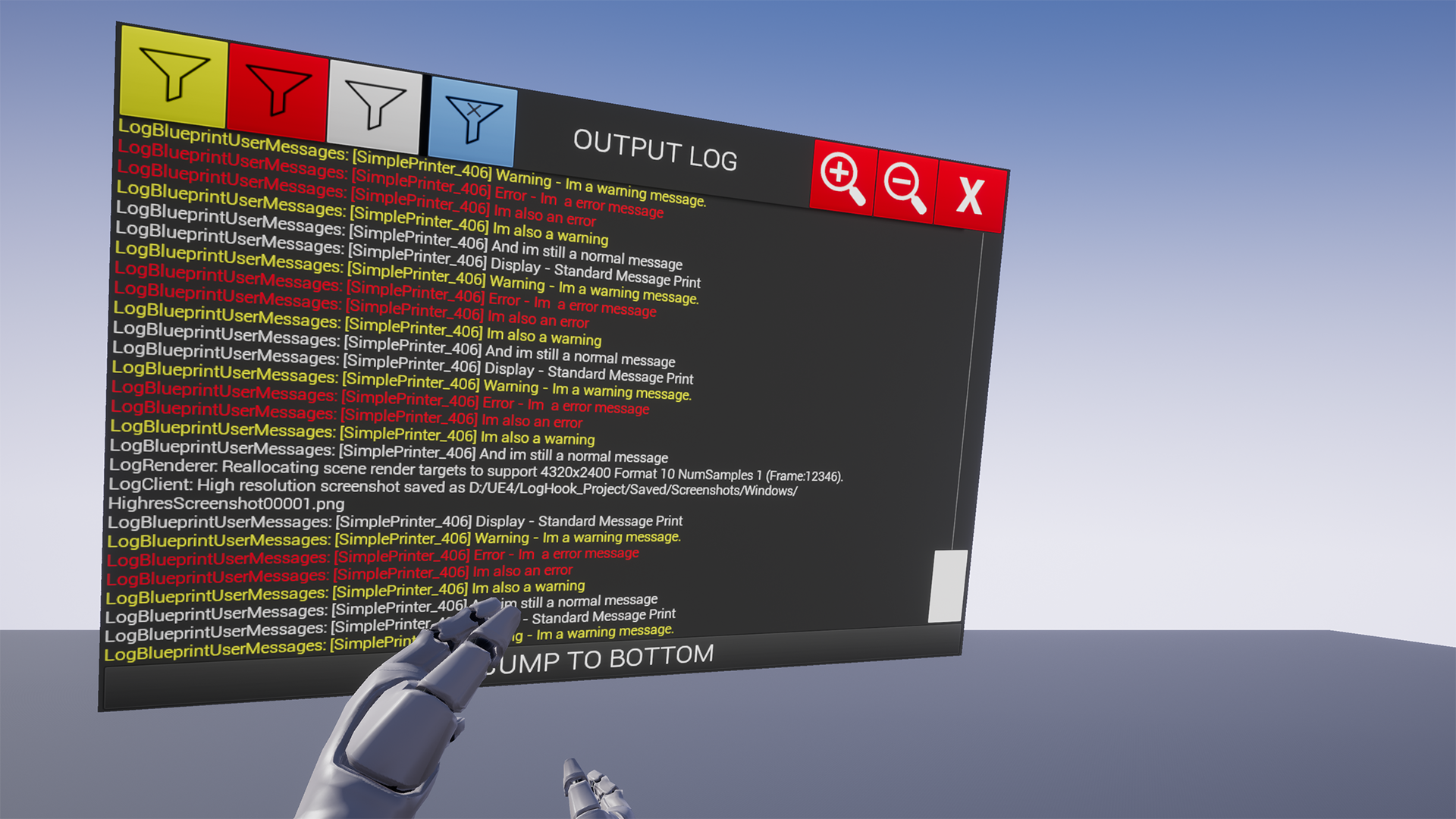 VR Log / BP Exposed Log by Aperture9 in Code Plugins - UE4 Marketplace