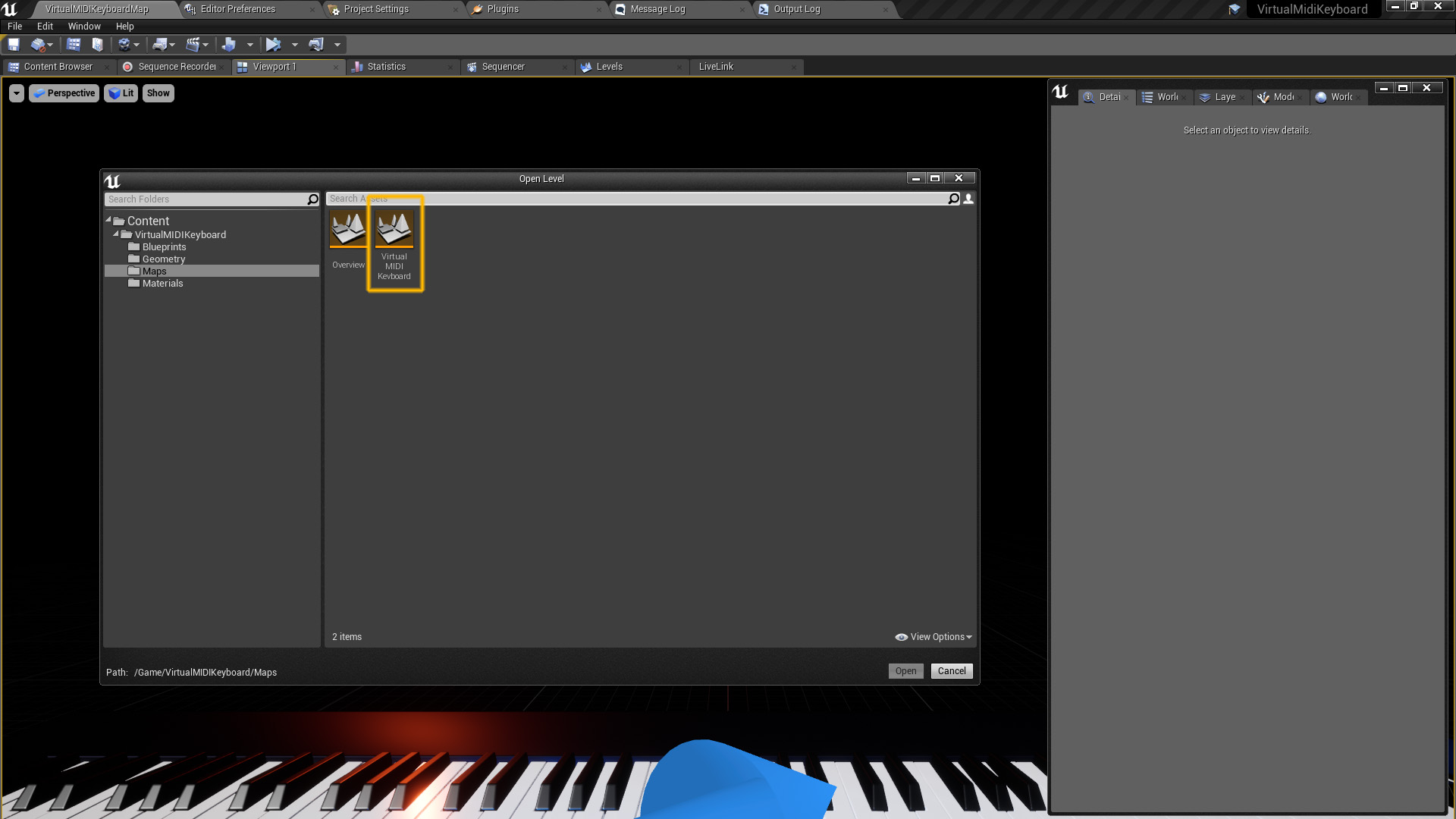 Virtual Midi Keyboard by KULTRA LTD in Blueprints - UE4 Marketplace