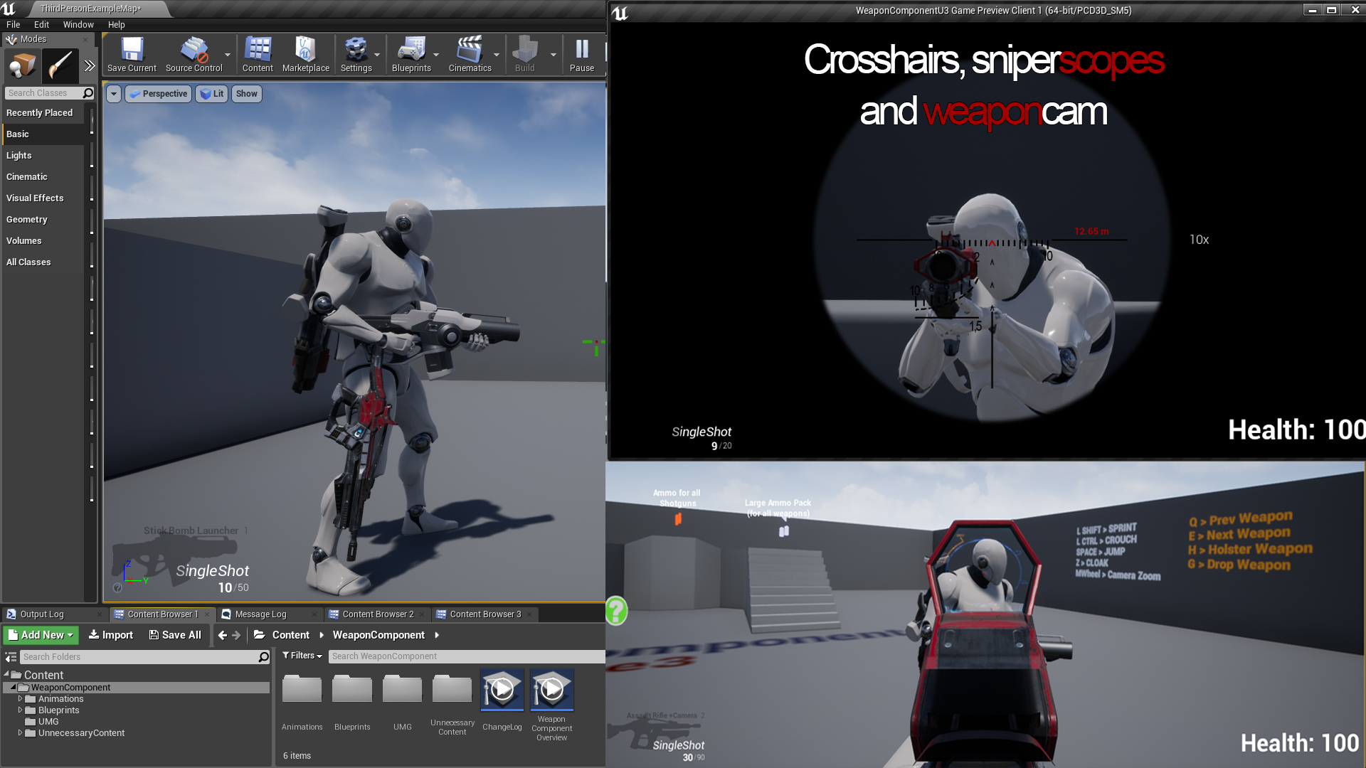 Weapon component by quick and easy in blueprints ue4 marketplace share malvernweather Images