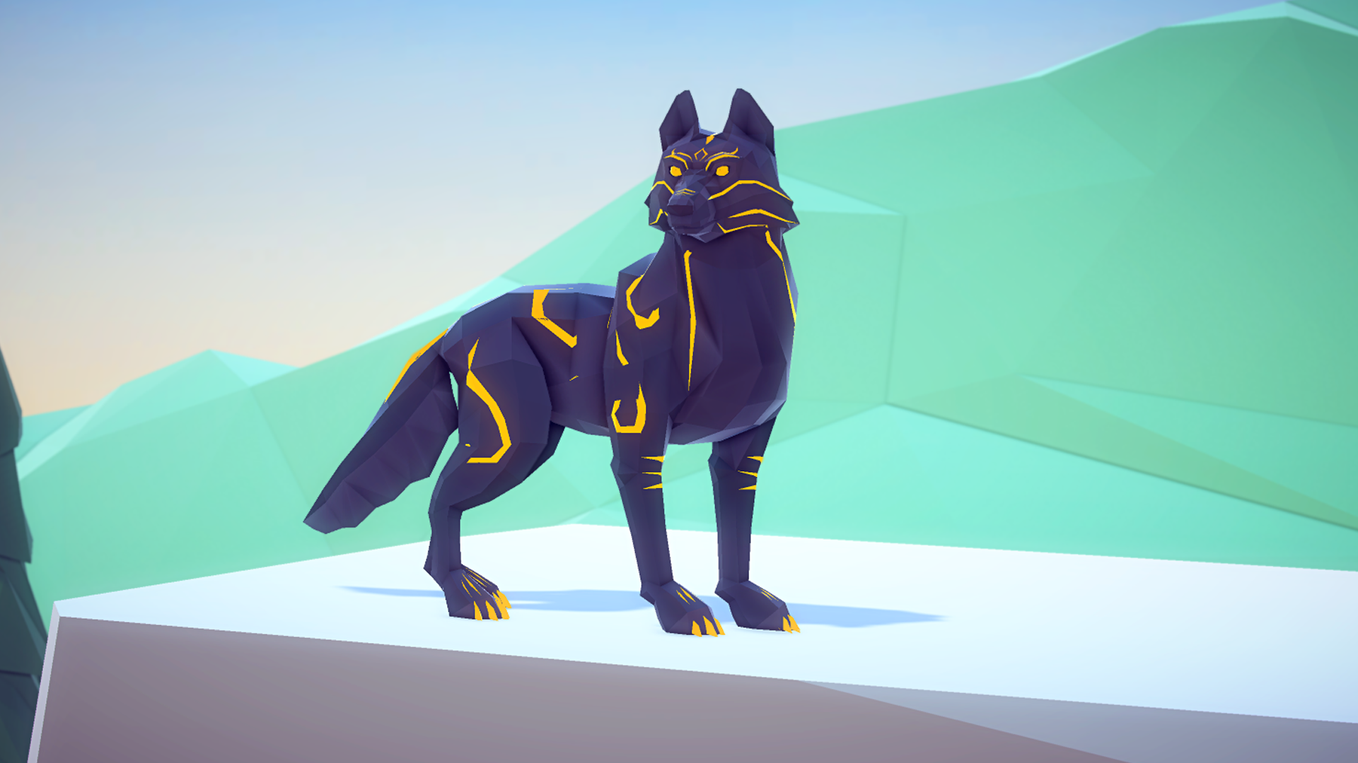 Poly Art Wolf by MalberS Animations in Characters - UE4