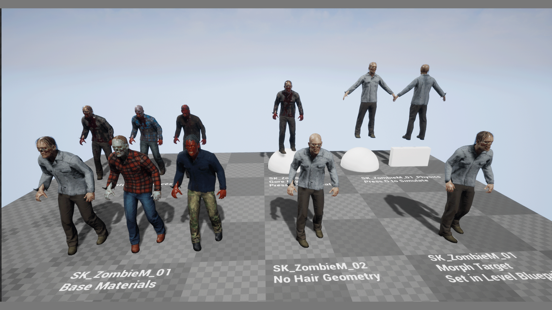 Zombie Male by leshiy3d in Characters - UE4 Marketplace