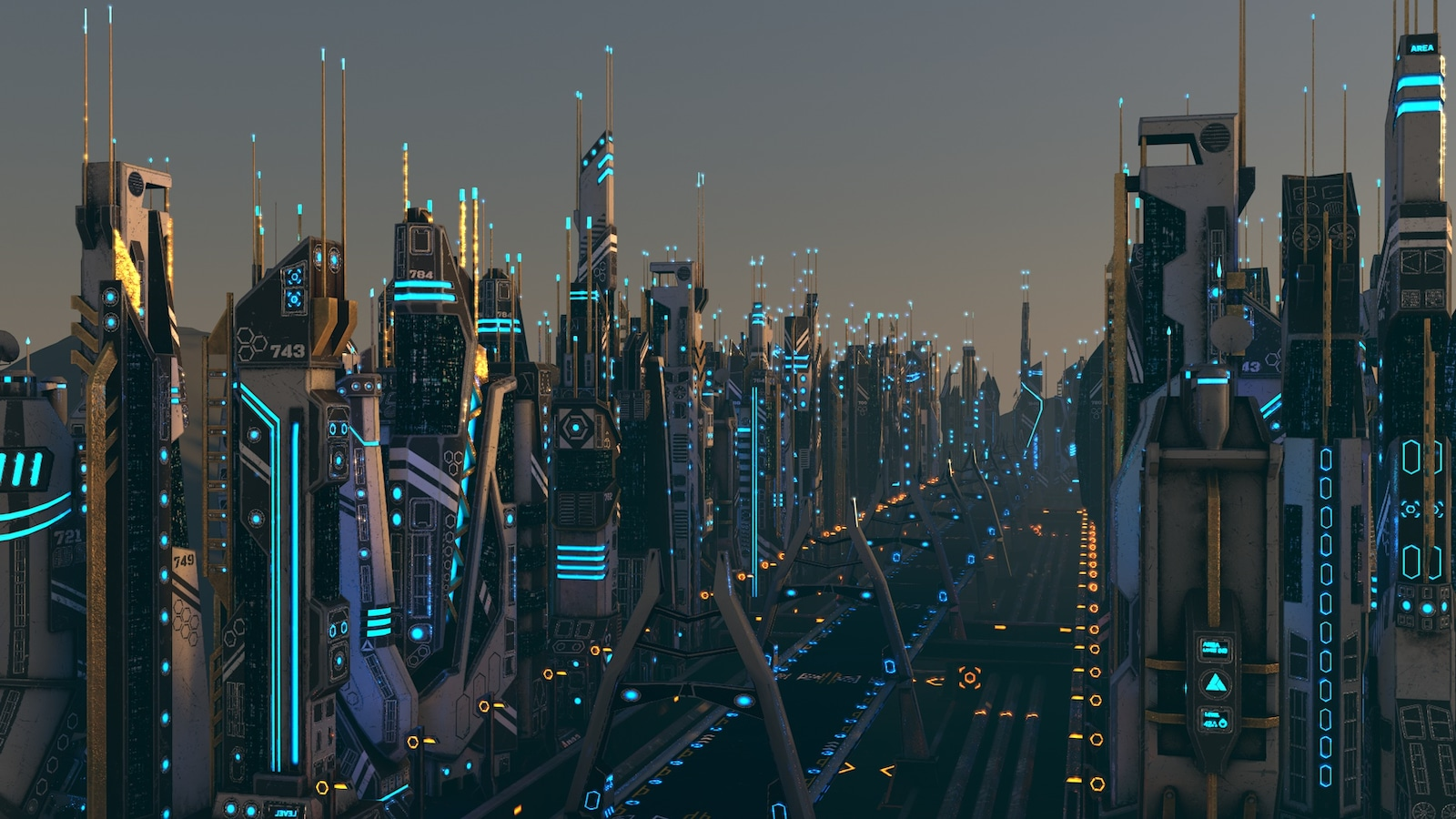 Mega Sci Fi City Package In Props Ue Marketplace