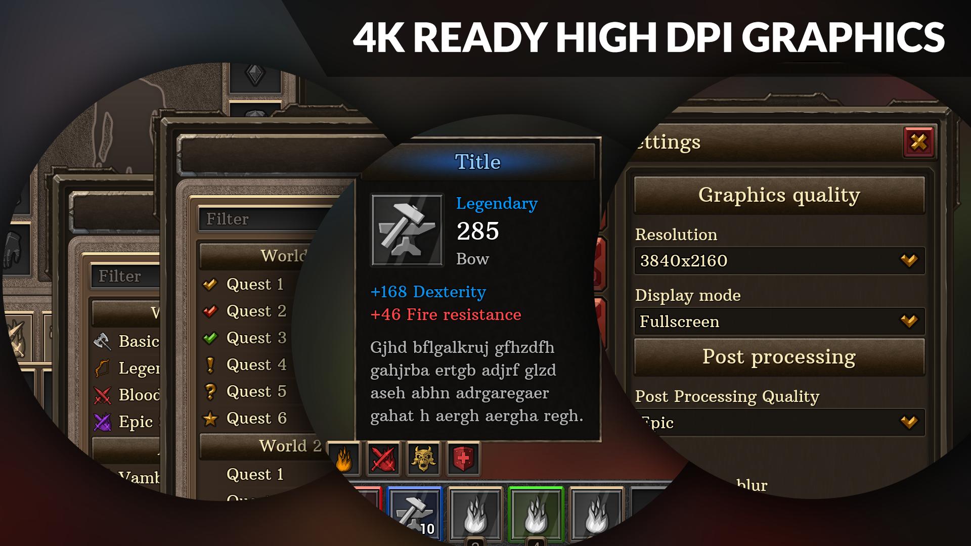 4k Full Fantasy GUI / UI + over 400 png + 178 widget