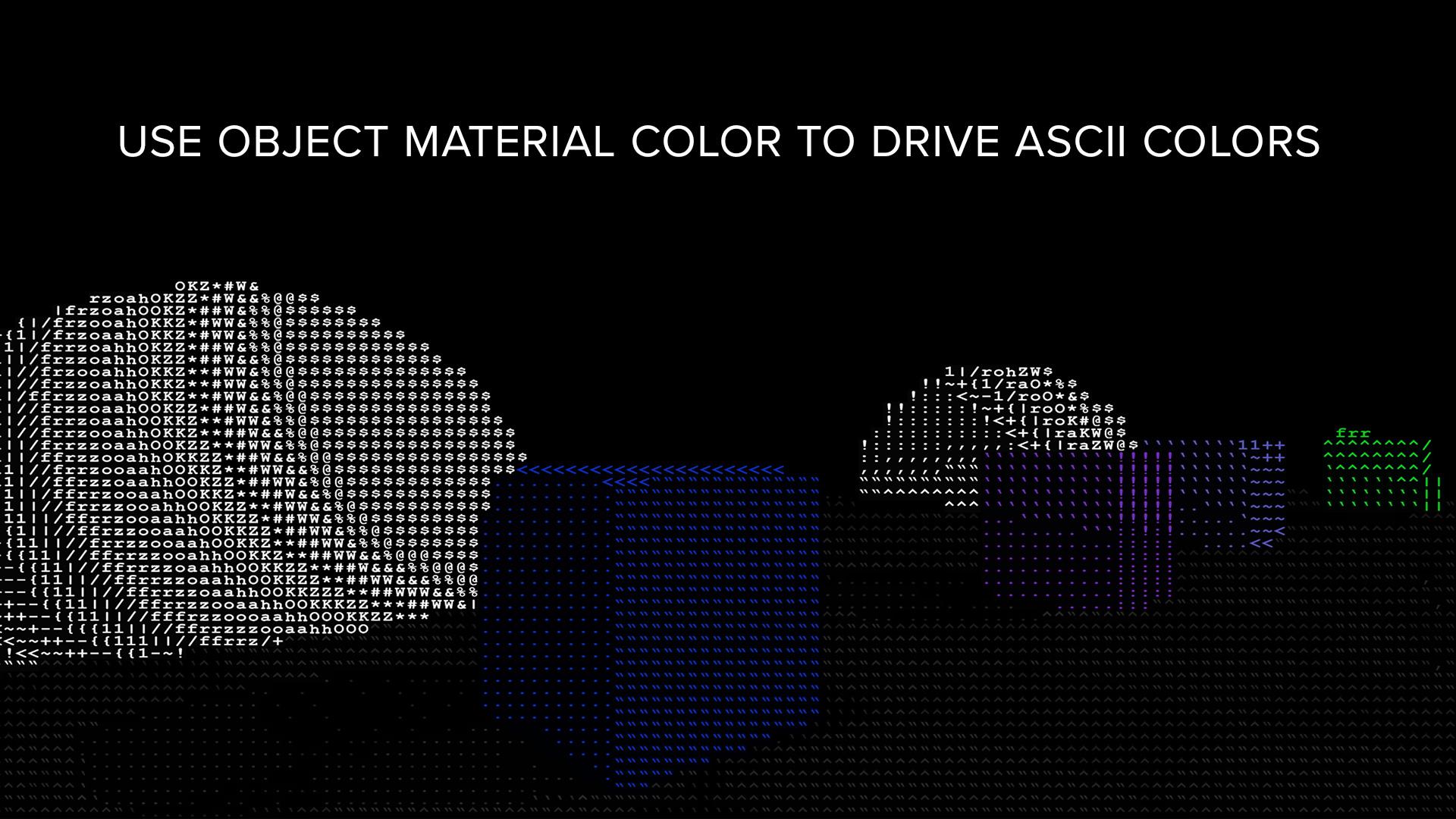 ASCII Post Process Material by AlexEngelmann in Materials