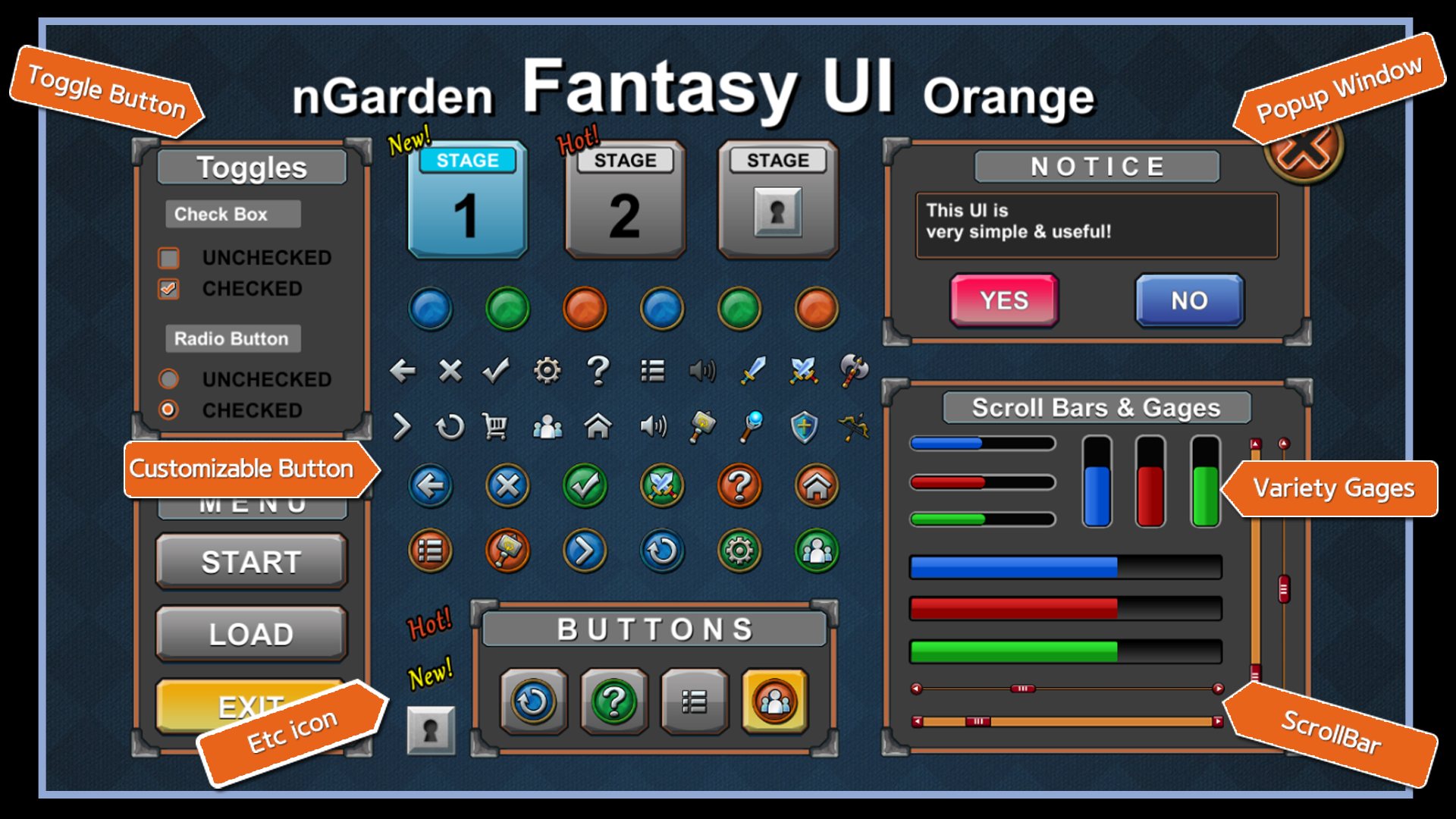 nGarden Fantasy UI by nGarden in 2D Assets - UE4 Marketplace