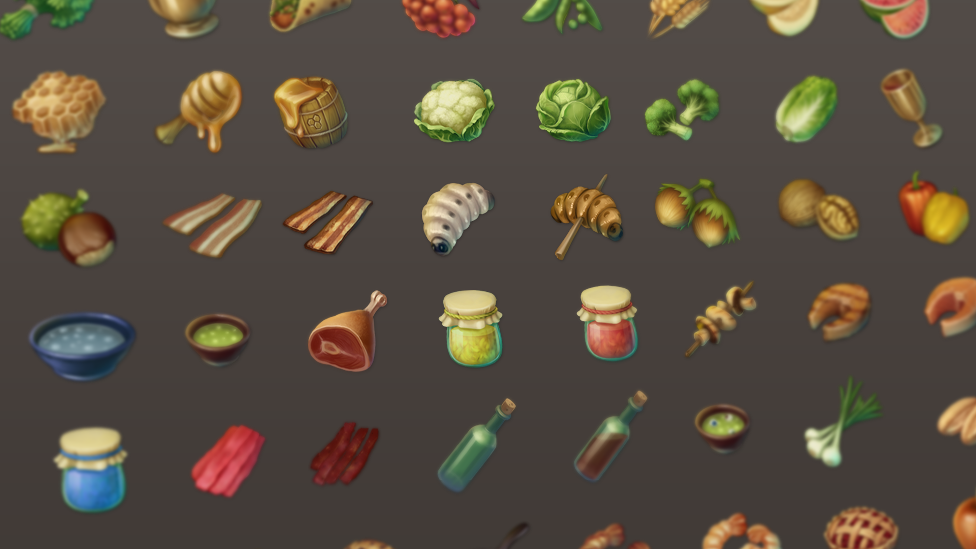 Fantasy RPG Food Icons by Leonid Deburger in 2D Assets - UE4