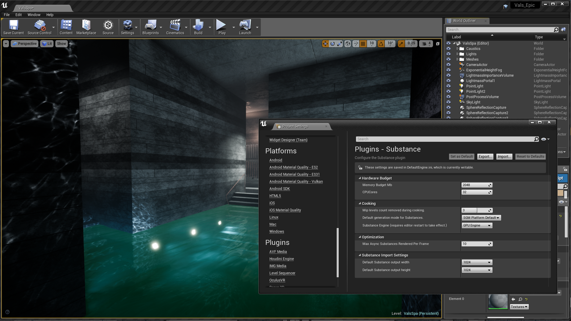 Substance in Unreal Engine by Allegorithmic in Code Plugins - UE4