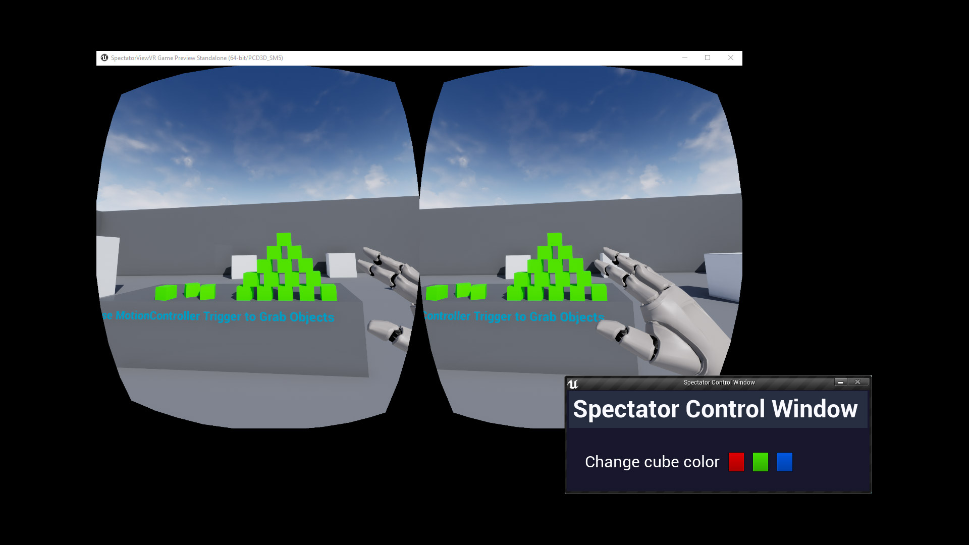 VR Spectator Control Window by MarcoAlting in Code Plugins