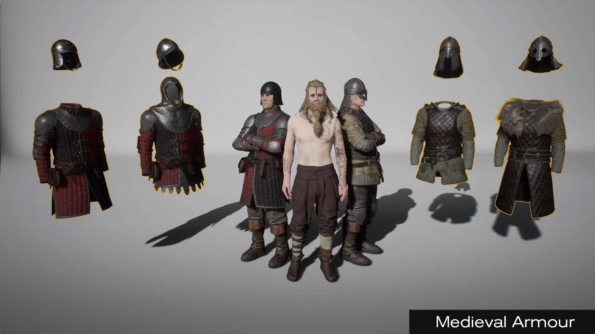 Medieval Armour by polyphoria in Characters - UE4 Marketplace