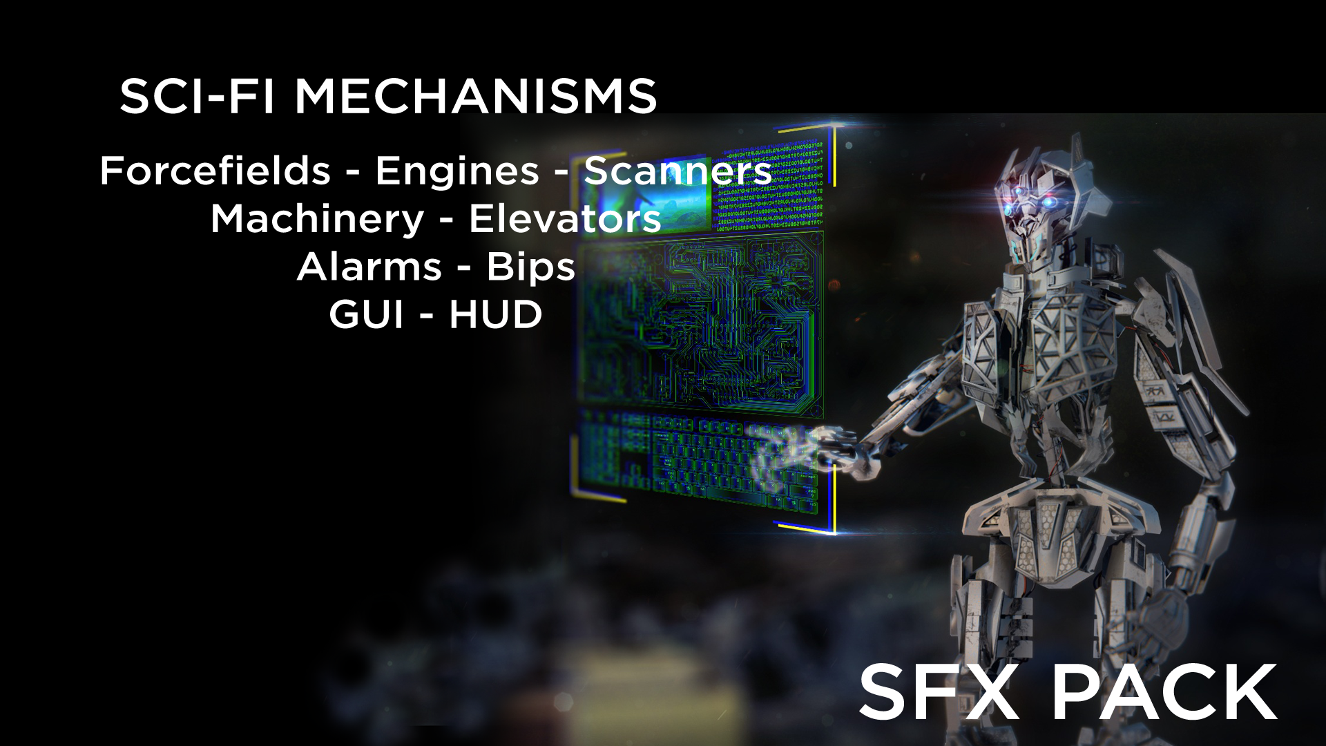 Sci-Fi Mechanisms SFX: Forcefields, Machinery, GUI, HUD ++