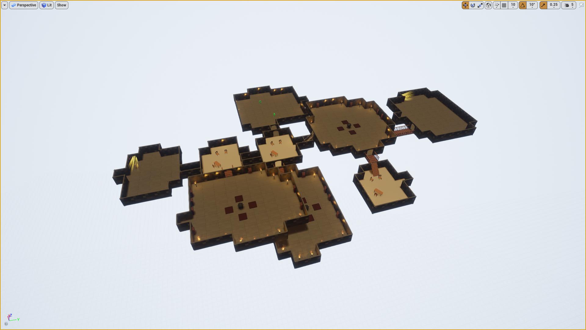 Dungeon Generator V2 by florianlequertier in Blueprints - UE4