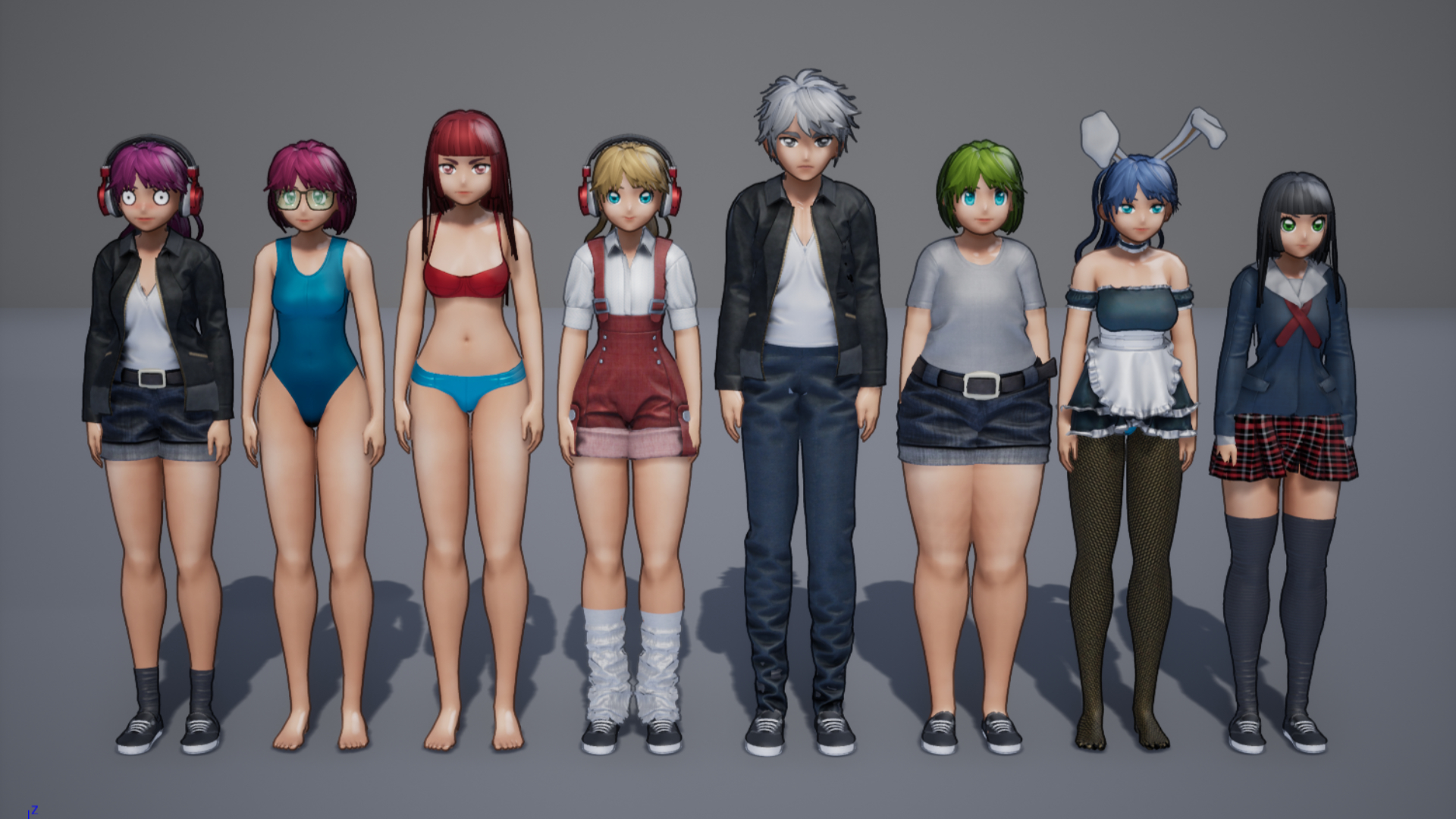 GR Customizable Anime Character 01 by Gustavo Rios in