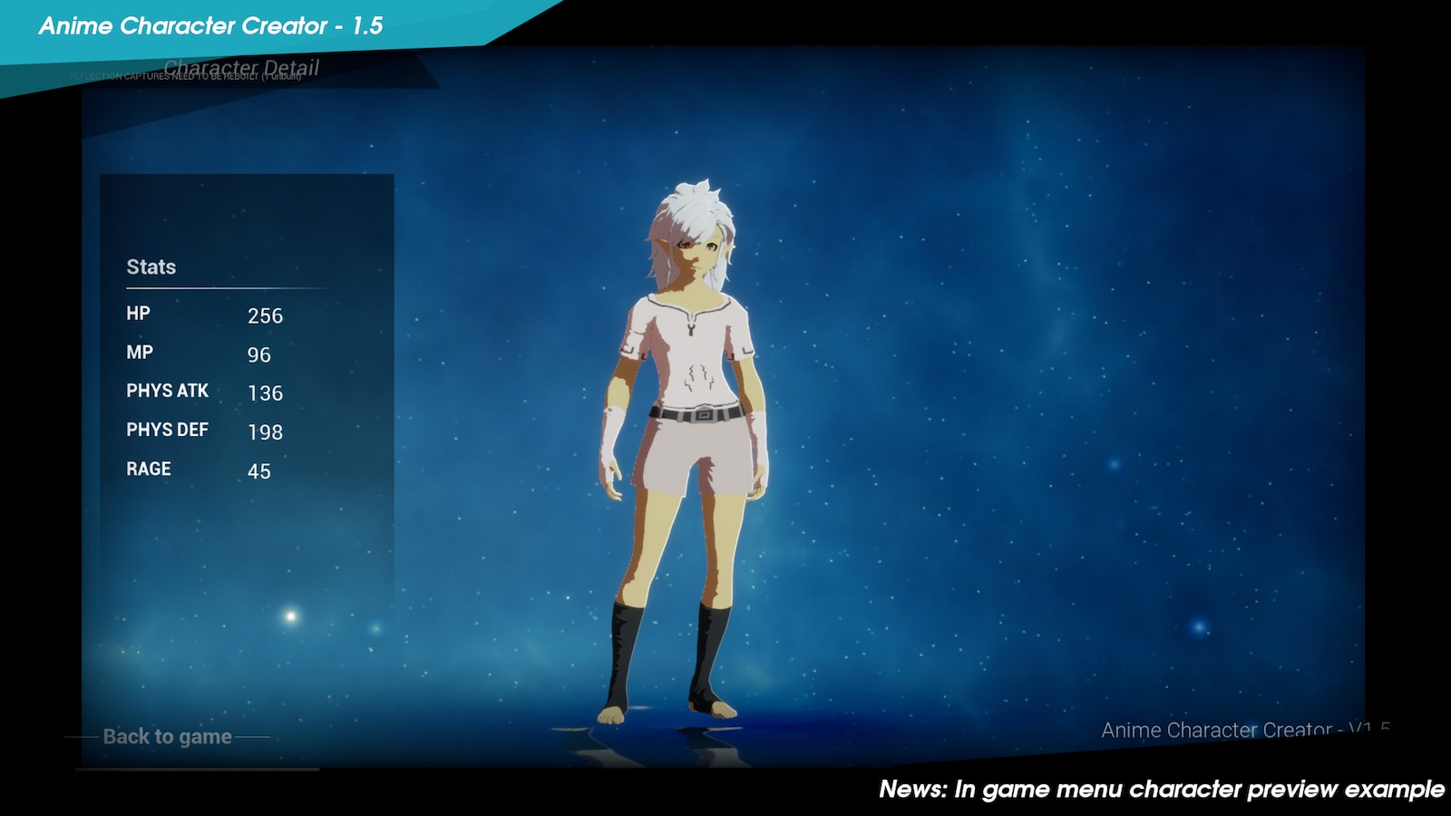Anime Character Creator In Blueprints Ue Marketplace