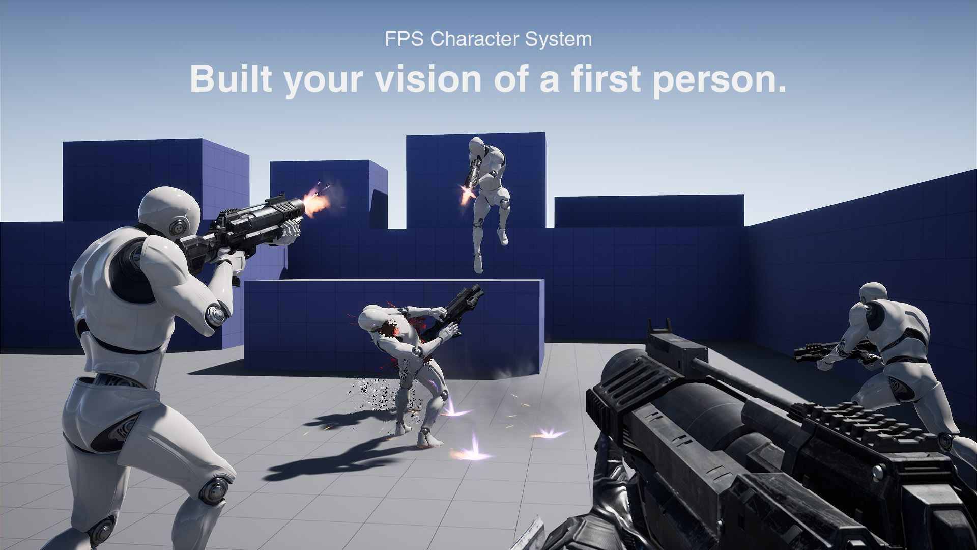 FPS Character System by Game Parts in Blueprints - UE4