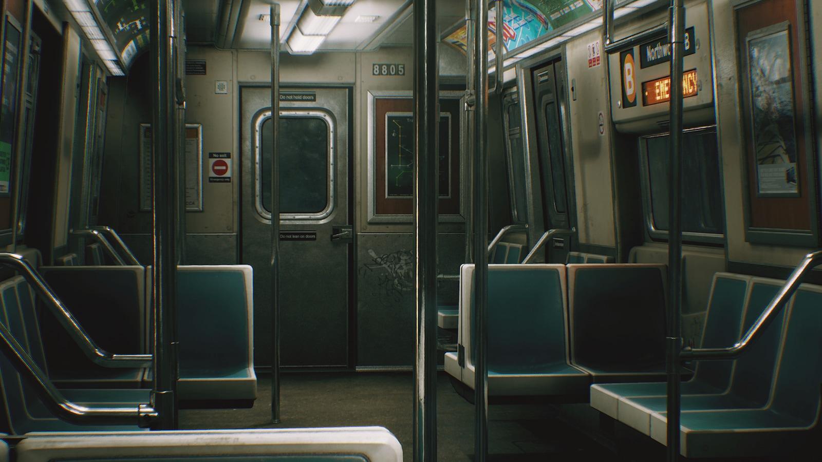 City Subway Train - Modular by Dekogon Studios in Environments - UE4  Marketplace