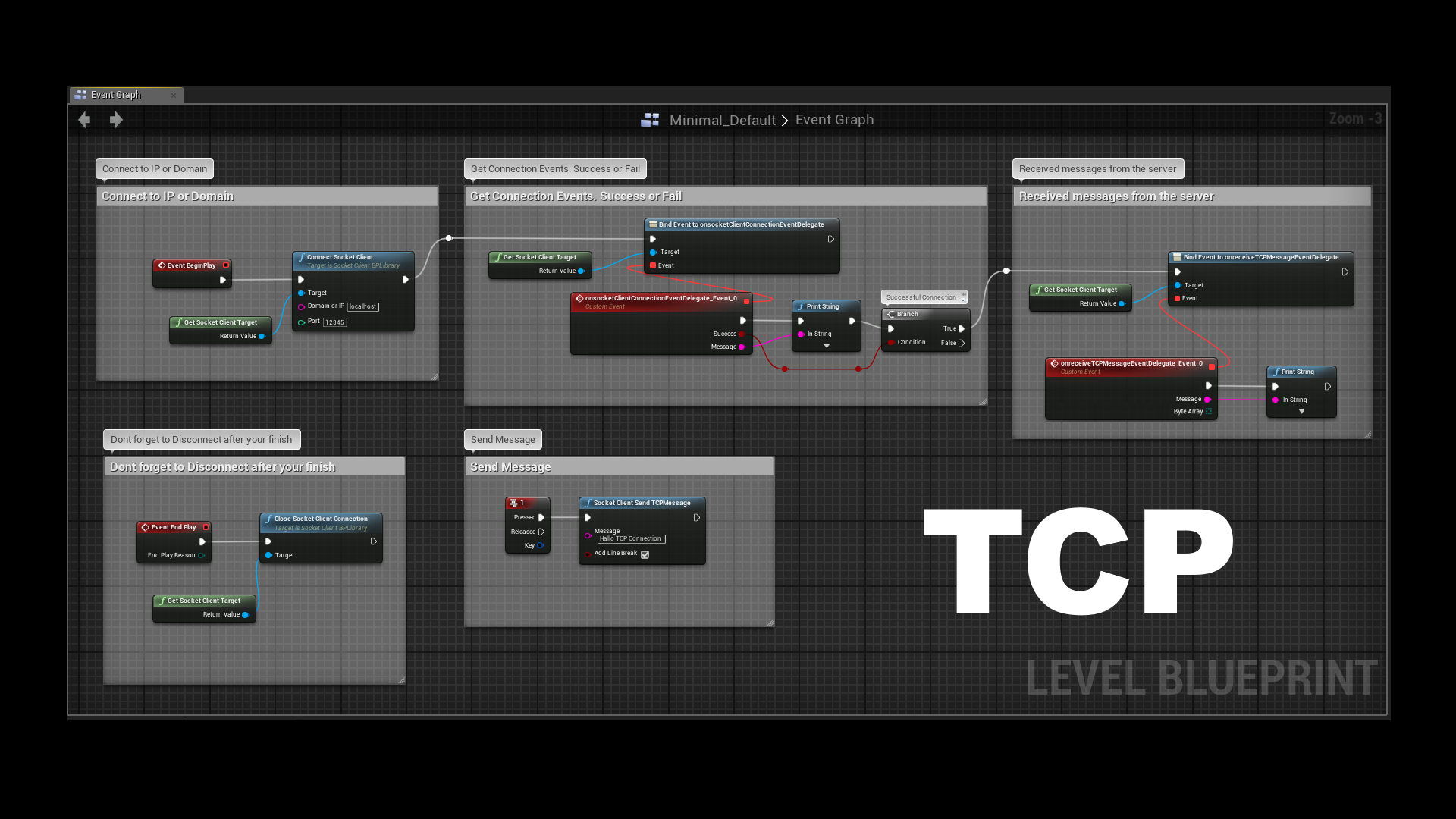Simple UDP TCP Socket Client by Socke in Code Plugins - UE4