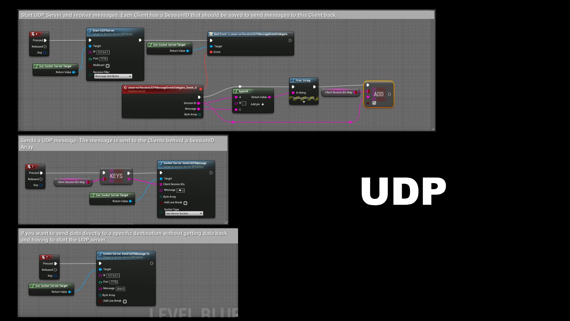 Simple UDP TCP Socket Server by Socke in Code Plugins - UE4