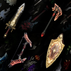 100+ Stylized Weapons for Fantasy RPGs