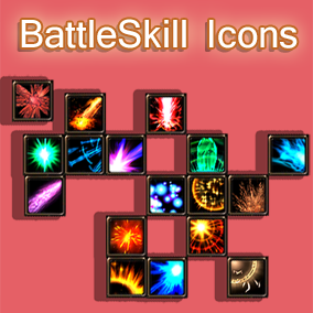 196 Useful Battle SKill Icons(54*54)PNG