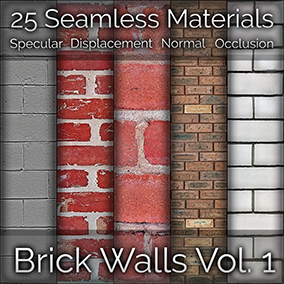 25x Brick Wall Seamless 4K PBR Materials