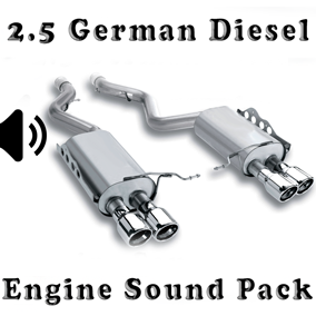 2.5 Diesel German - Engine Sound Pack is a 2500cc diesel car engine sound pack.
