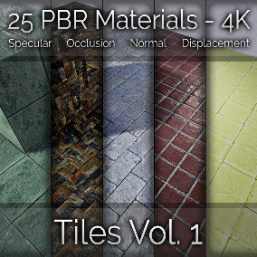 25x Tile Vol. 1 Seamless 4K PBR Materials