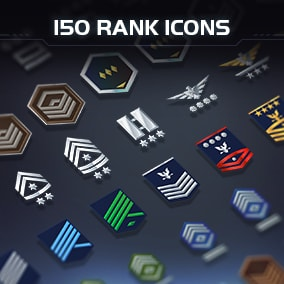 2D Icons - 150 Space Rank is icon asset to make your own games.