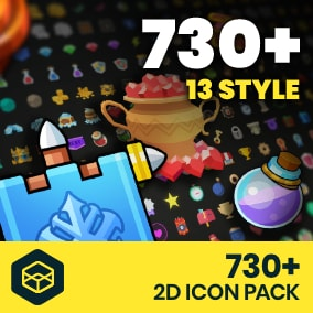 +730 2D Icon Pack is icon asset to make your own RPG games.