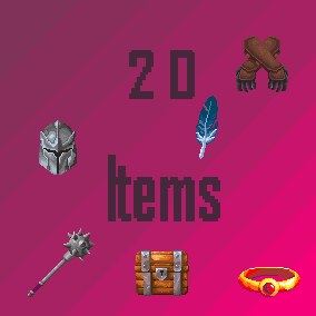 2D Item sprites which can be used in 2D games