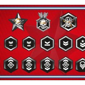 2D Military Rank Sprite Pack 2