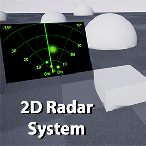 A 2D radar Actor and Widget with a variety of options and the ability to only update targets in the direction currently being scanned like   old fashioned radars.