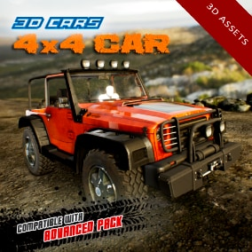 Detailed off-road 4 wheel drive car, including 4 LOD levels. Compatible with Advanced Pack