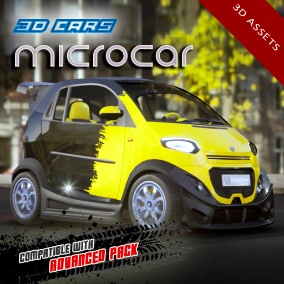 Detailed microcar, including 4 LOD levels. Compatible with Advanced Pack