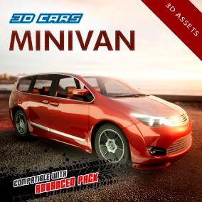 Detailed minivan, including 4 LOD levels. Compatible with Advanced Pack