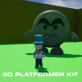 The 3D platformer starter kit is a project built to help you start your 3D platformer game. It comes with all the platformer essentials.
