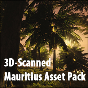 STF-3D Mauritius Asset Pack - A Pack of 3D-Scanned, Photogrammetric Assets + handmade Models of the Flora indigenous to Mauritius