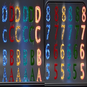 3D Text & Numbers With Particles Effect