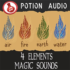 110 High-Quality magic sounds of Air, Fire, Earth, Water and also Ice