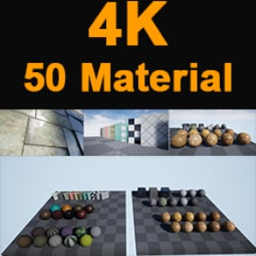 4K 50 PBR MATERIAL (Stone,Wood,Marble,Metal Panel,Leather,Fabric,Tile,Concrete)