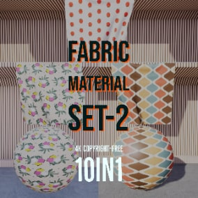 4K Fabric Material Collection includes 10 different fabric and cloth textures.