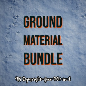 4K Ground Material Collection includes 73 different asphalt, pavement, road, snow, and ground textures.