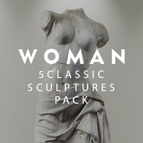 4 Sculptures Pack Woman