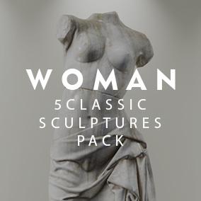 5 Sculptures Pack Woman