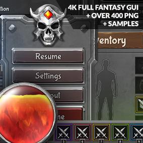 4k Full Fantasy GUI / UI 2